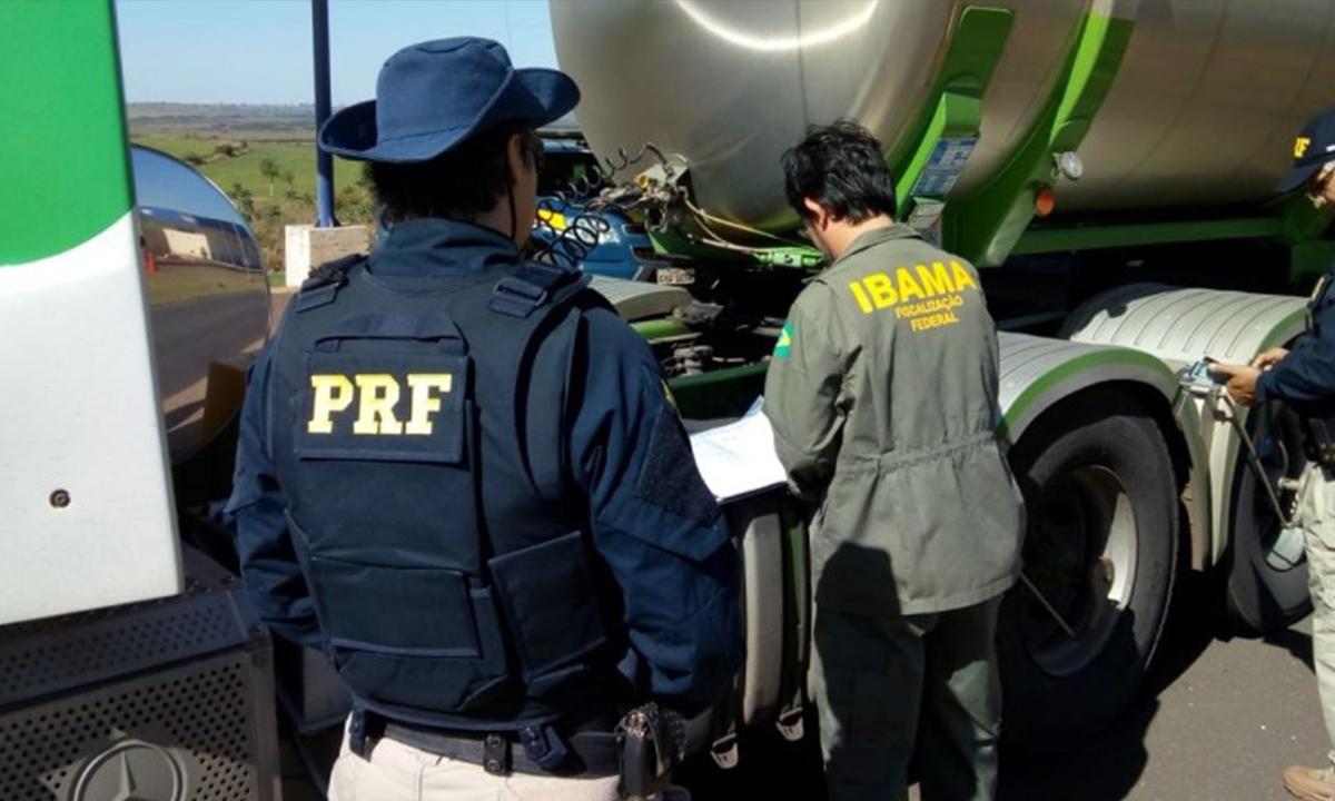 PRF e Ibama realizam Operação Arla 32 no Mato Grosso do Sul